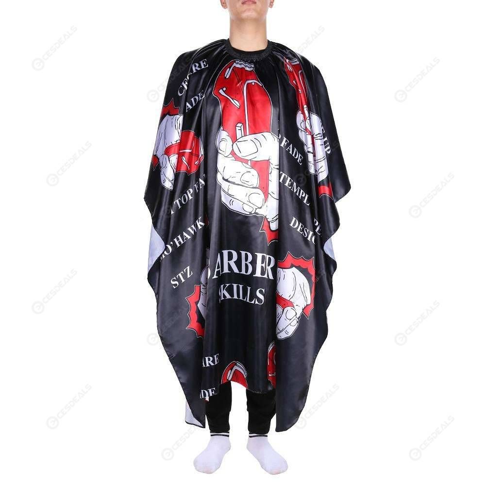 Pro Waterproof Cloth Hair Cutting Gown Cape Hairdressing Salon Barber Apron