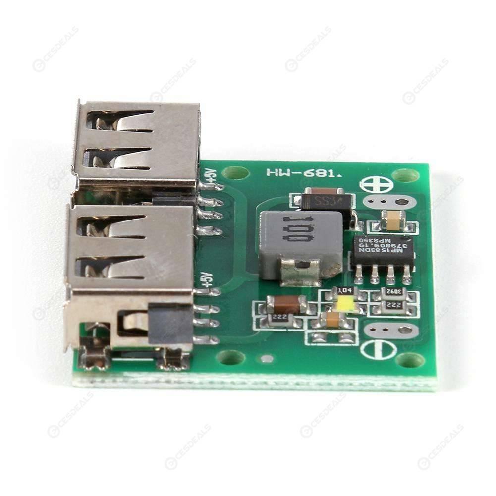 Dual USB Output 9V 12V 24V to 5V 3A DC-DC Step Down Charger Power Module