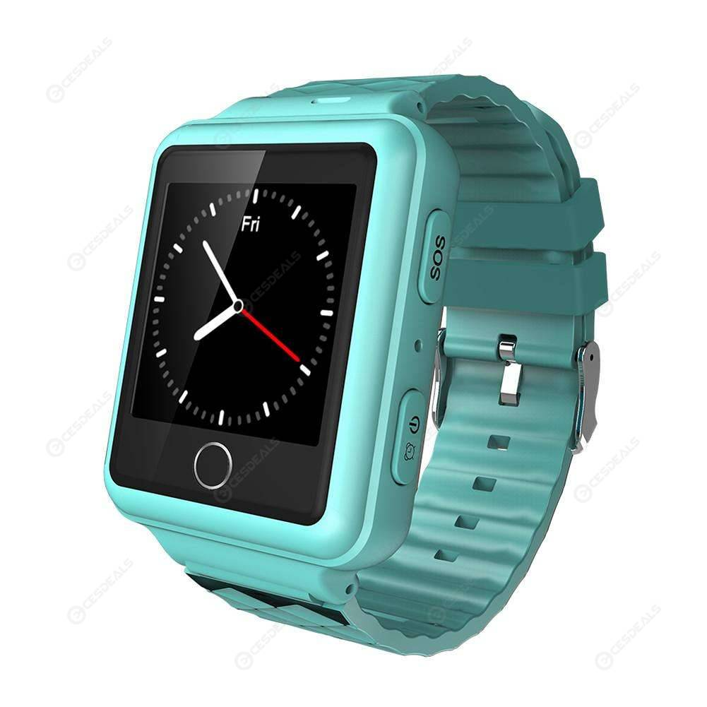 Elderly Children GPS+WiFi+LBS Tracker Smart Watch Phone SOS Call (Blue)