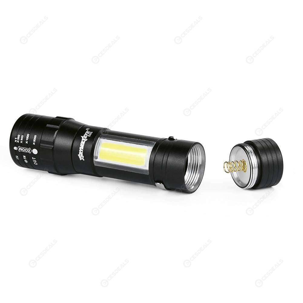 Skywolfeye Portable 4 Modes COB LED Zoom Focus Torch Light Lamp Lantern