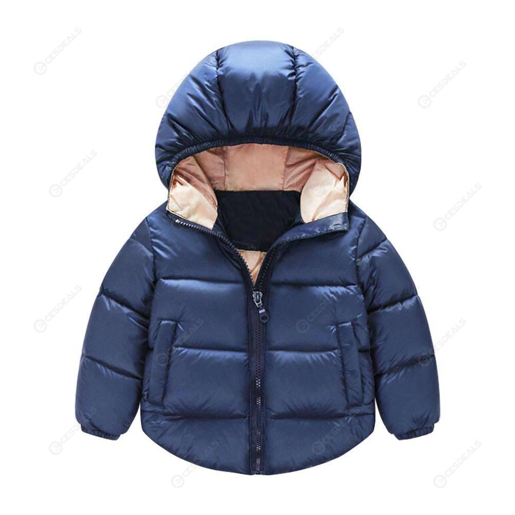 35f0884db Kids Winter Jacket Duck Down Coat Zipper Fashion Pocket Slim Parkas (5-6T)  ...