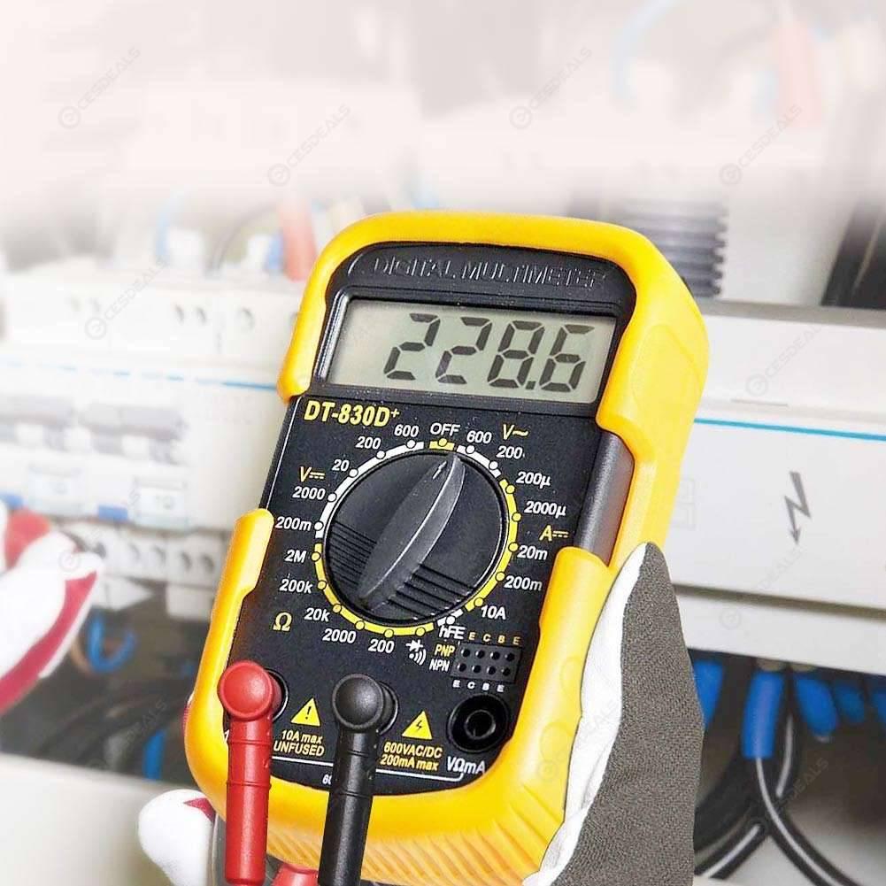 DT830D Mini Portable Digital Multimeter AC/DC Voltage Meter Current Tester