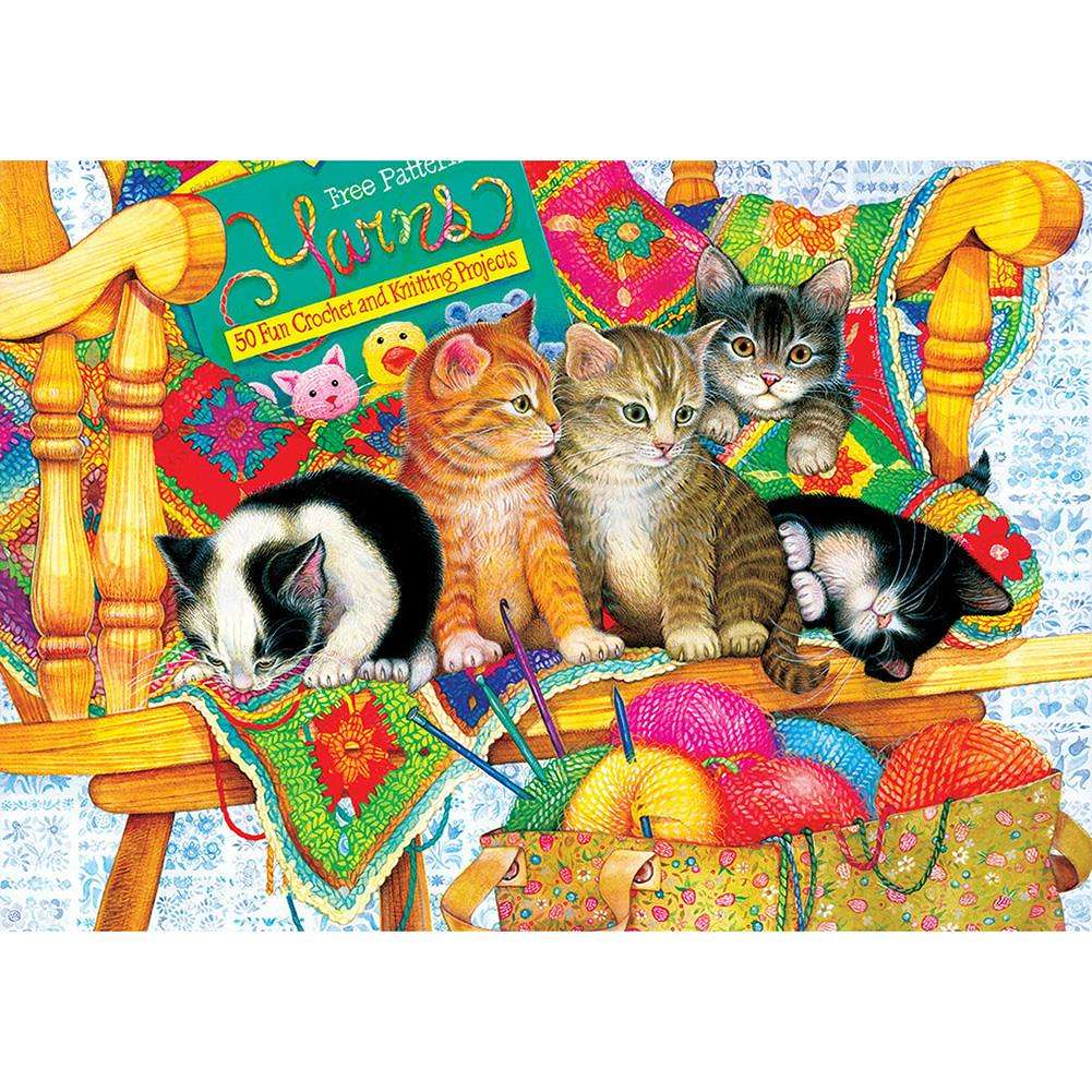UK Cute Little Animals Full Drill 5D Diamond Painting Embroidery Cross Stitch ST
