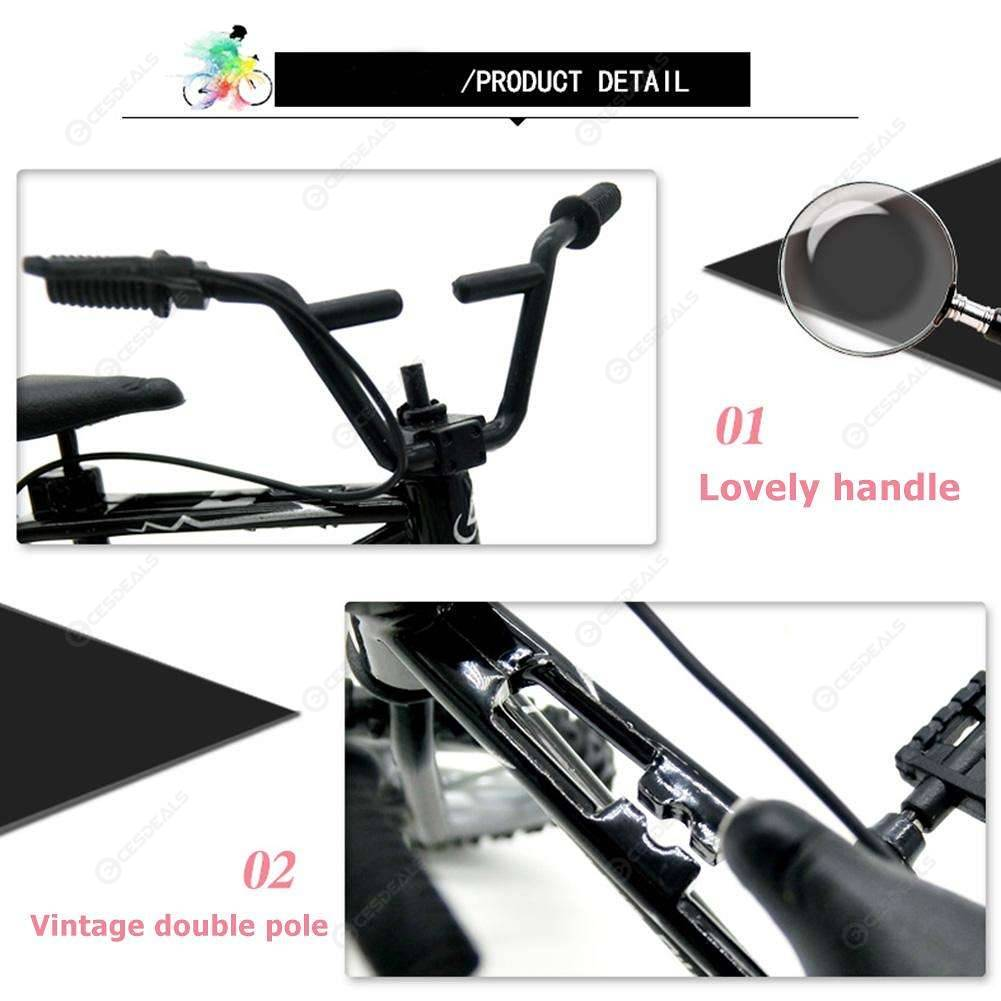 Retro Mini Finger BMX Bicycle Alloy Assembly Bike Model Toys Gadgets Kids Gifts