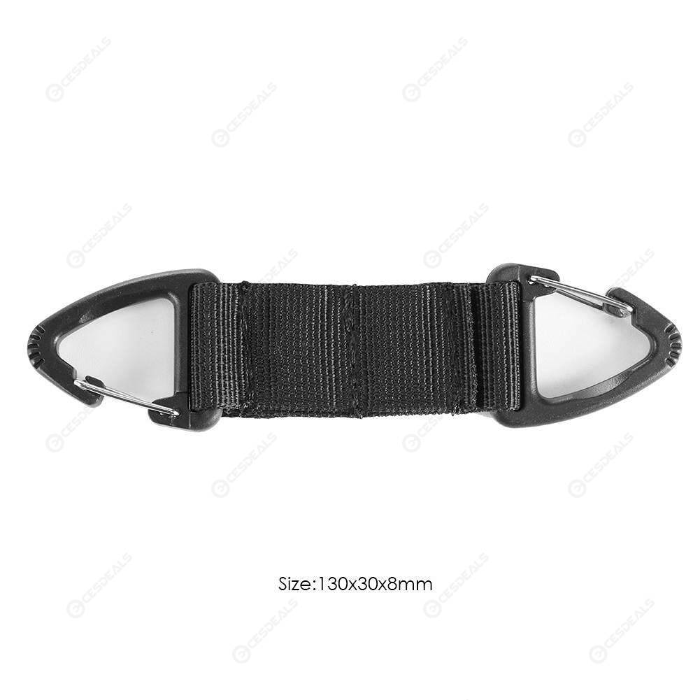 Outdoor Molle Buckle Webbing Belt Clip Climbing Carabiner Clasp Hanging Chain
