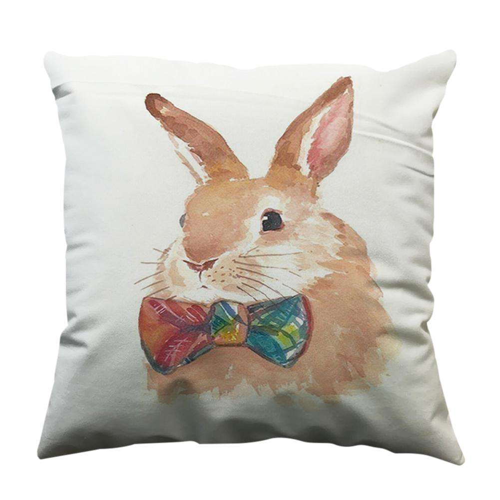 Cute Rabbit Printed Throw Pillow Case Sofa Chair Waist
