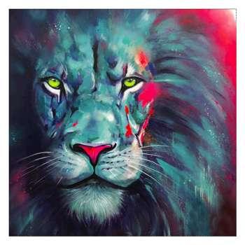 5D DIY Full Drill Diamond Painting Lion Cross Stitch Embroidery Mosaic Kits