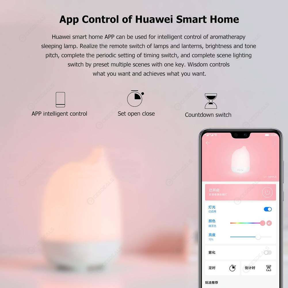 Huawei Smart Aromatherapy Sleep Lamp Bedside Water Lilies Color Diffuser
