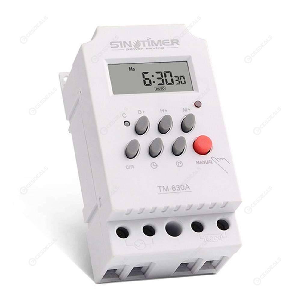 Digitale Zeitschaltuhren DC//AC 12V 16A LCD  Programmierbar Timer Schalter Gifts