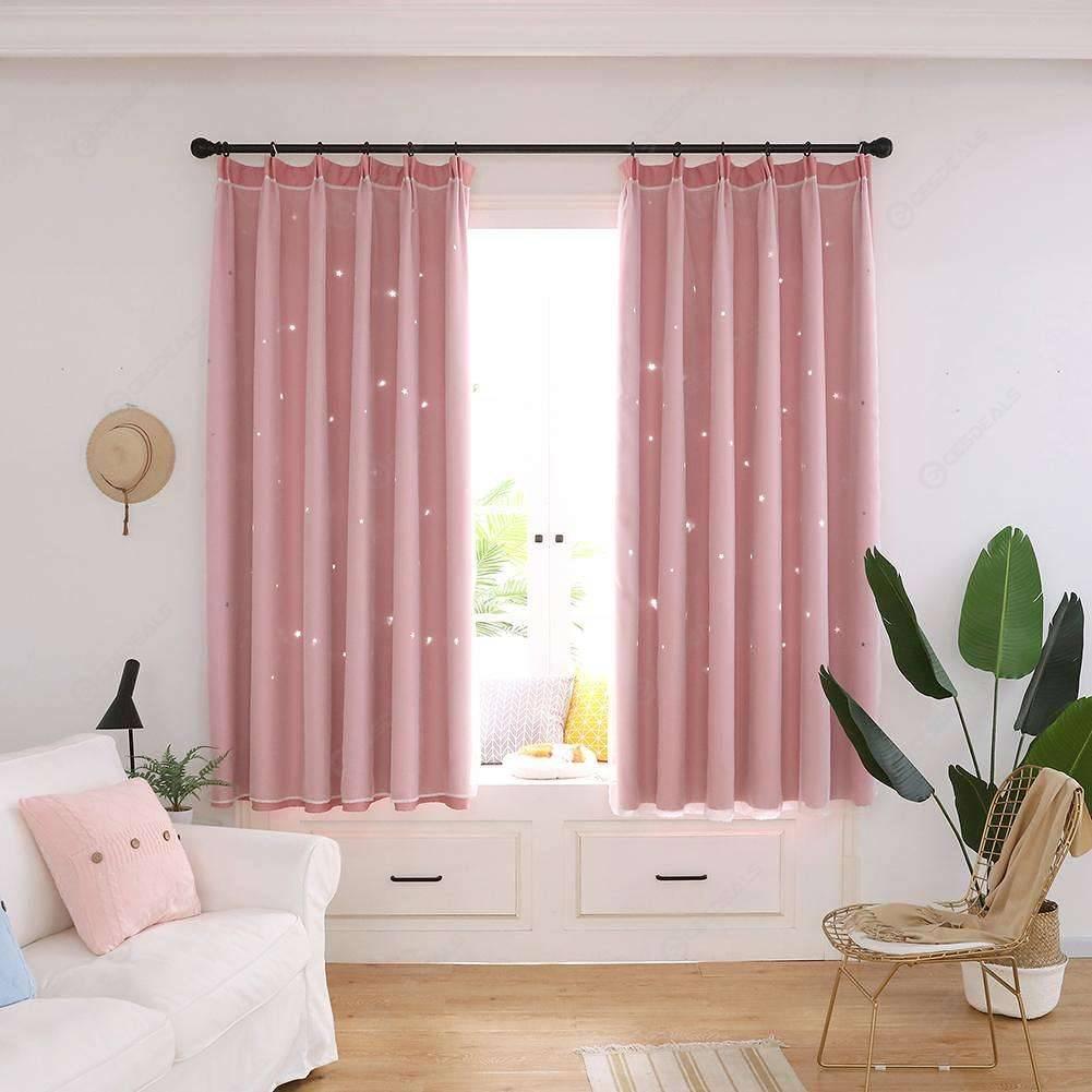 Moderno Estrellas Windows Blackout Cortinas Casa Habitación Ventana Decoración Cortinas Rosa