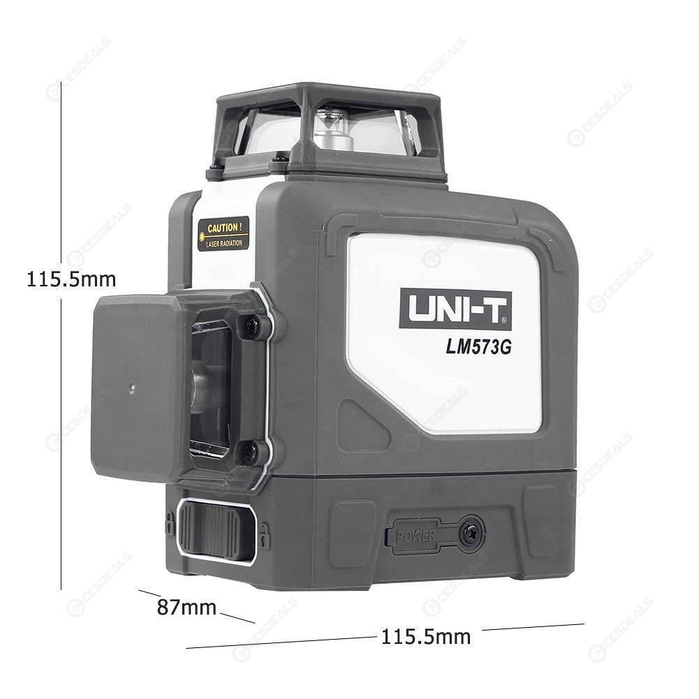 UNI-T LM573G 12 Line Laser Level Self-leveling Green Laser Beam Level Meter
