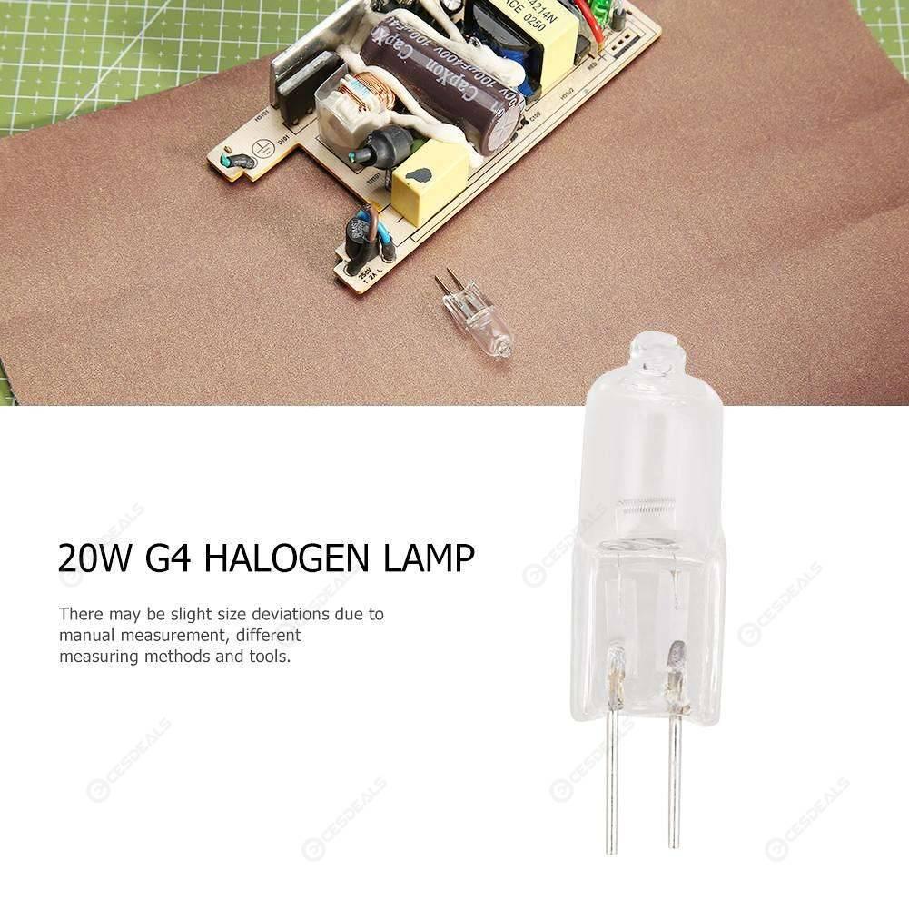 30PCS Mini G4 JC Type Halogen Light Bulbs 20W DC 12V Lamp For Crystal Chandelier