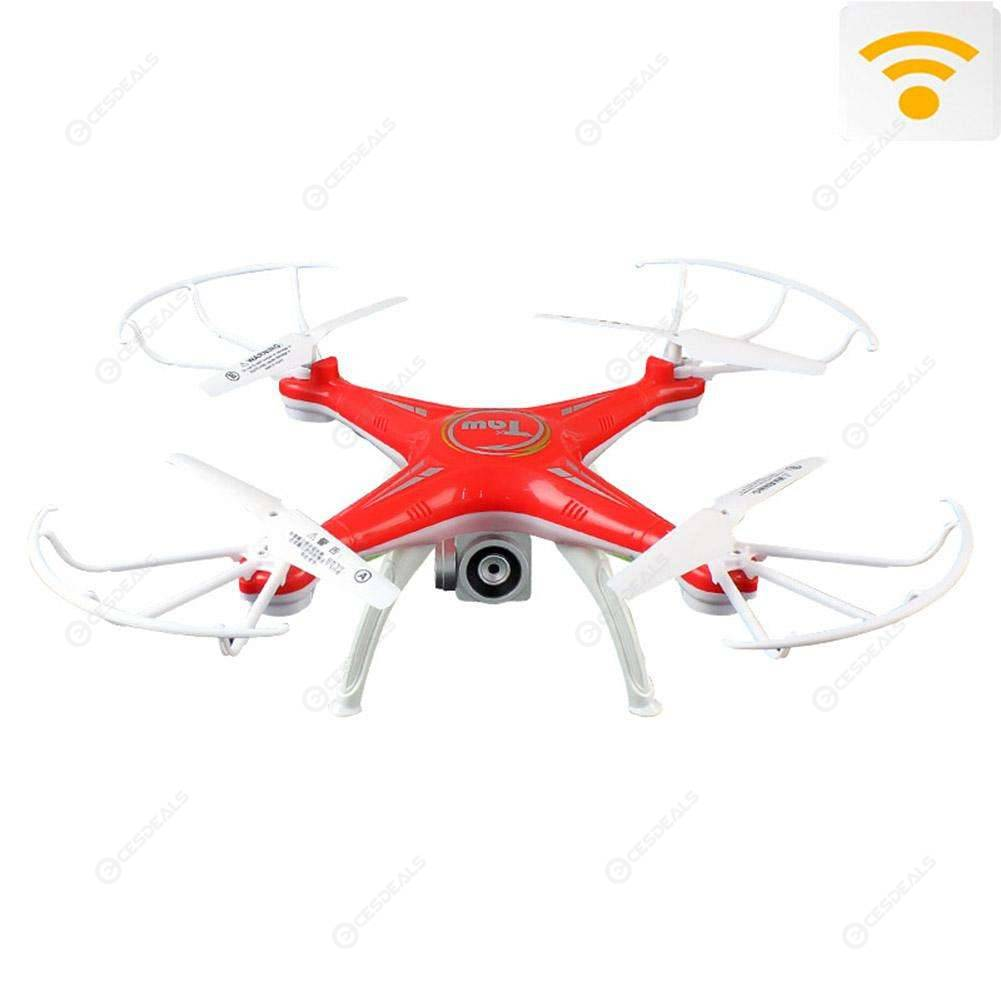 HD Aerial Photography Remote Control 4-axis Aircraft Model (Camera Red)