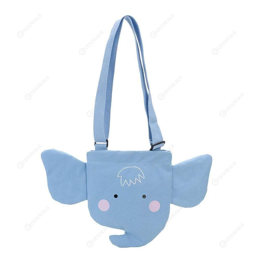 de7dcd6a9 Cute Canvas Shoulder Handbags Kids Girls Animal Small Satchel Bag (Sky Blue  ...