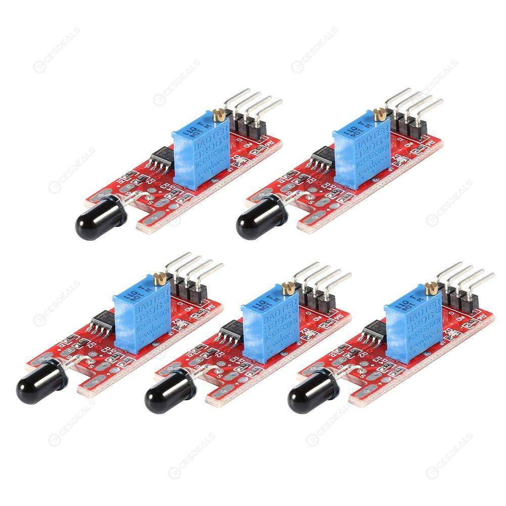 5pcs KY-026 Flame Sensor Fire Detection Module Detects Infrared Receiver