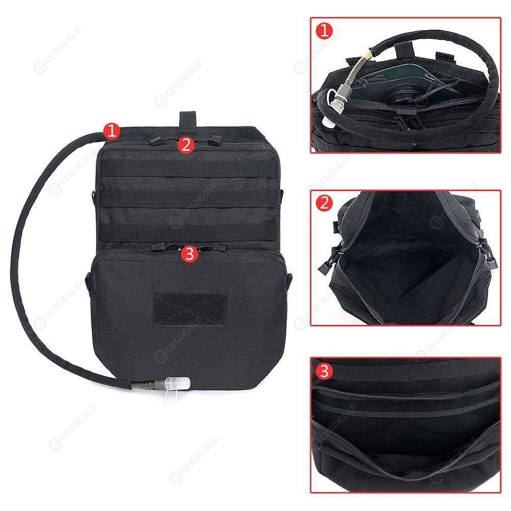 Outdoor Molle Nylon 3L Vest Hydration Backpack Camel Water Bladder Cycling Bag