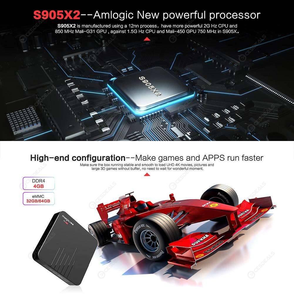 N5 Max TV cuadro 8 1 Android S905X2 Quad Core 4GB WiFi decodificador (US  64GB)