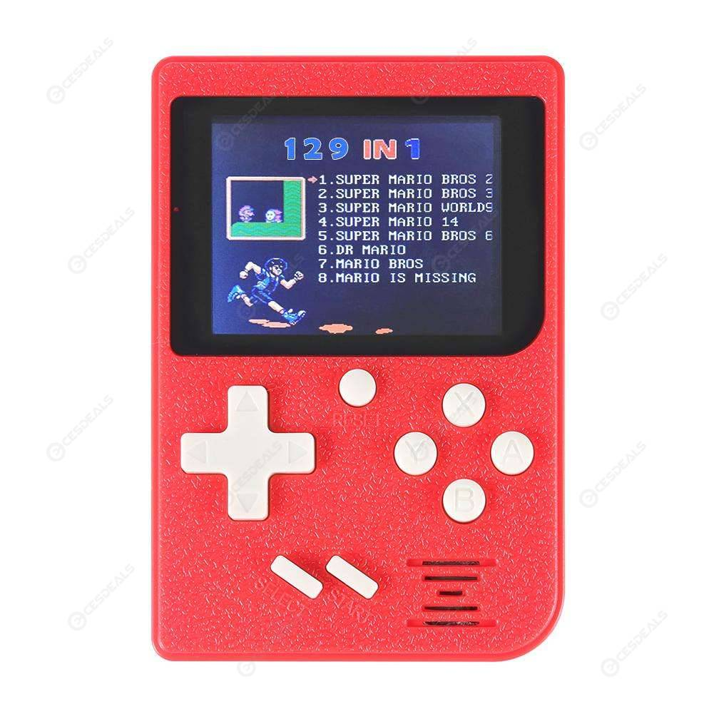Game Player 8bit Video Game Console Built-in 129 Games Game Player (Yellow)