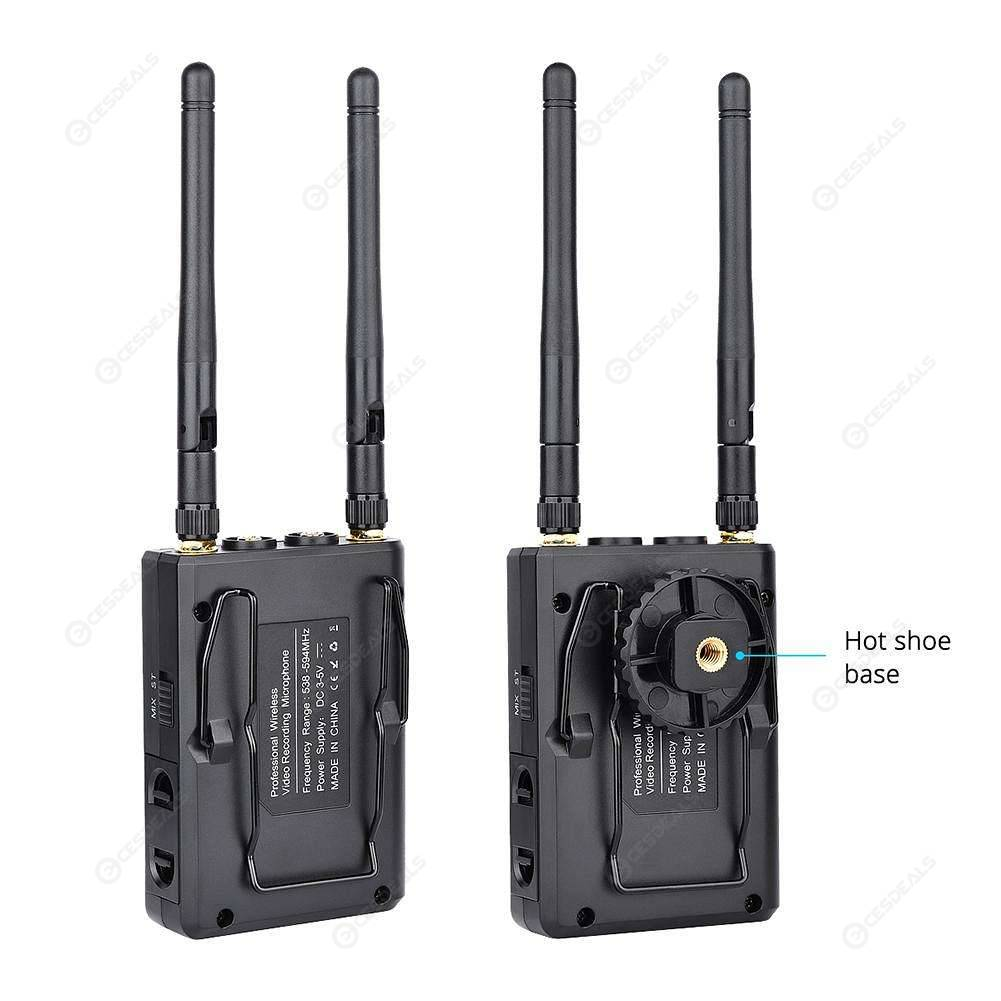 WM-9 UHF Wireless Lavalier Microphone System Lapel Mic for Camera Recorder