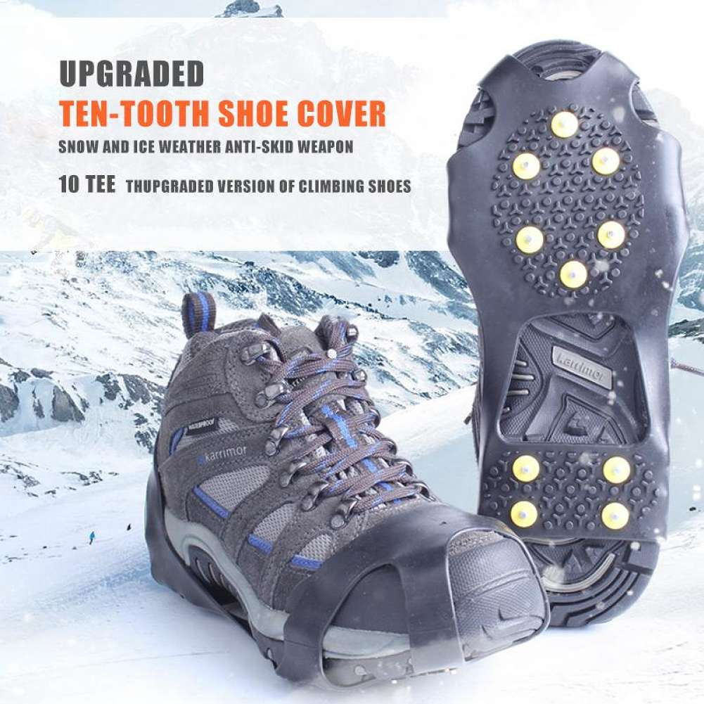 M-Egal 2pcs Outdoor Sports Tooth Crampons Ice Crampons 7 Teeth Anti Skid Shoe Cover
