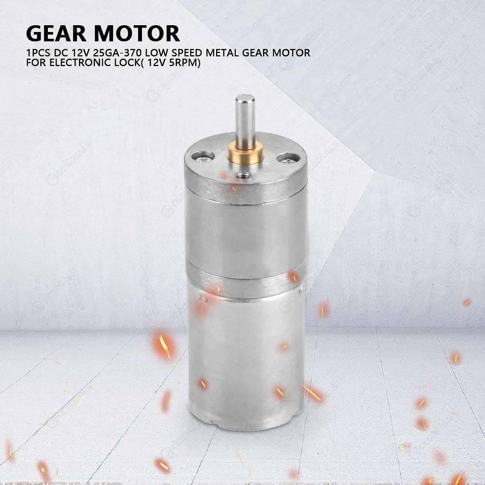 25GA370 Metal Low Speed High Torque Gear Motor DC Gear Reduction (1000RPM)