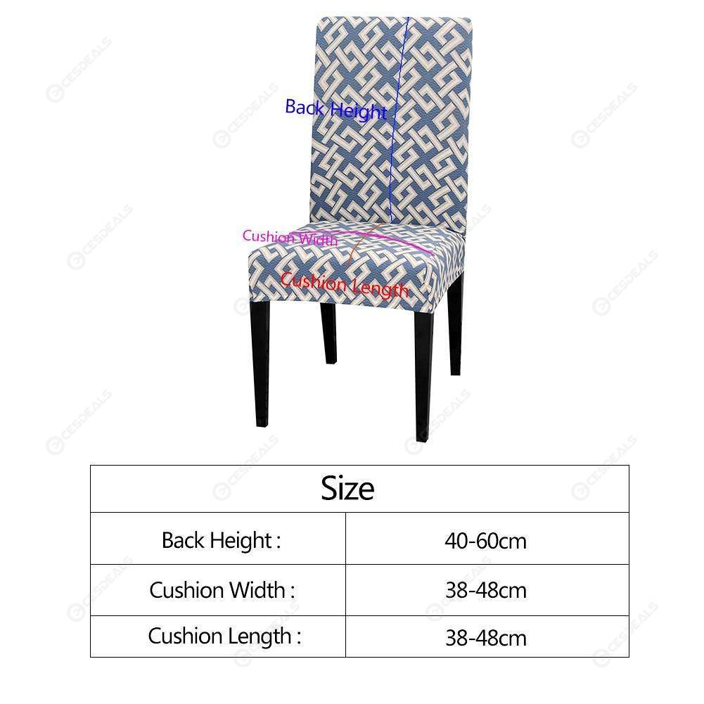 Pleasant Geometry Elastic Thin Stretch Seat Case Banquet Slipcover Chair Cover 1Pc Creativecarmelina Interior Chair Design Creativecarmelinacom