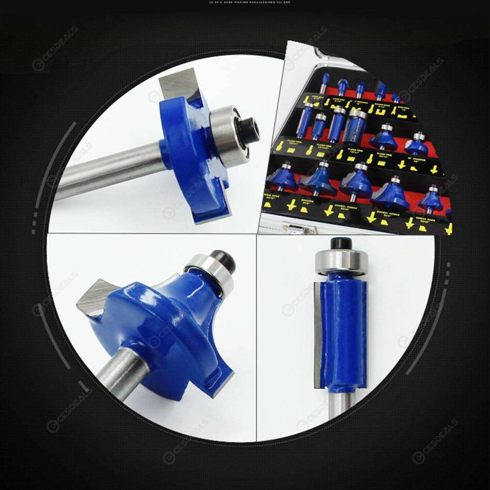 Handle Wood Router Bit Mill Engraving Trim Woodworking Milling Cutter Trimmer