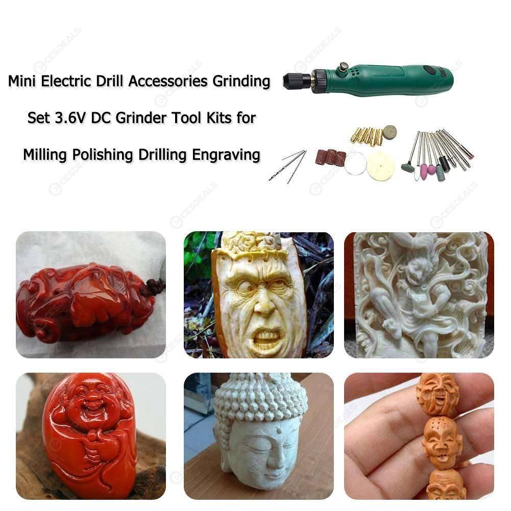 Mini Electric Drill Grinding Set Tool Kit for Milling Polishing Engraving