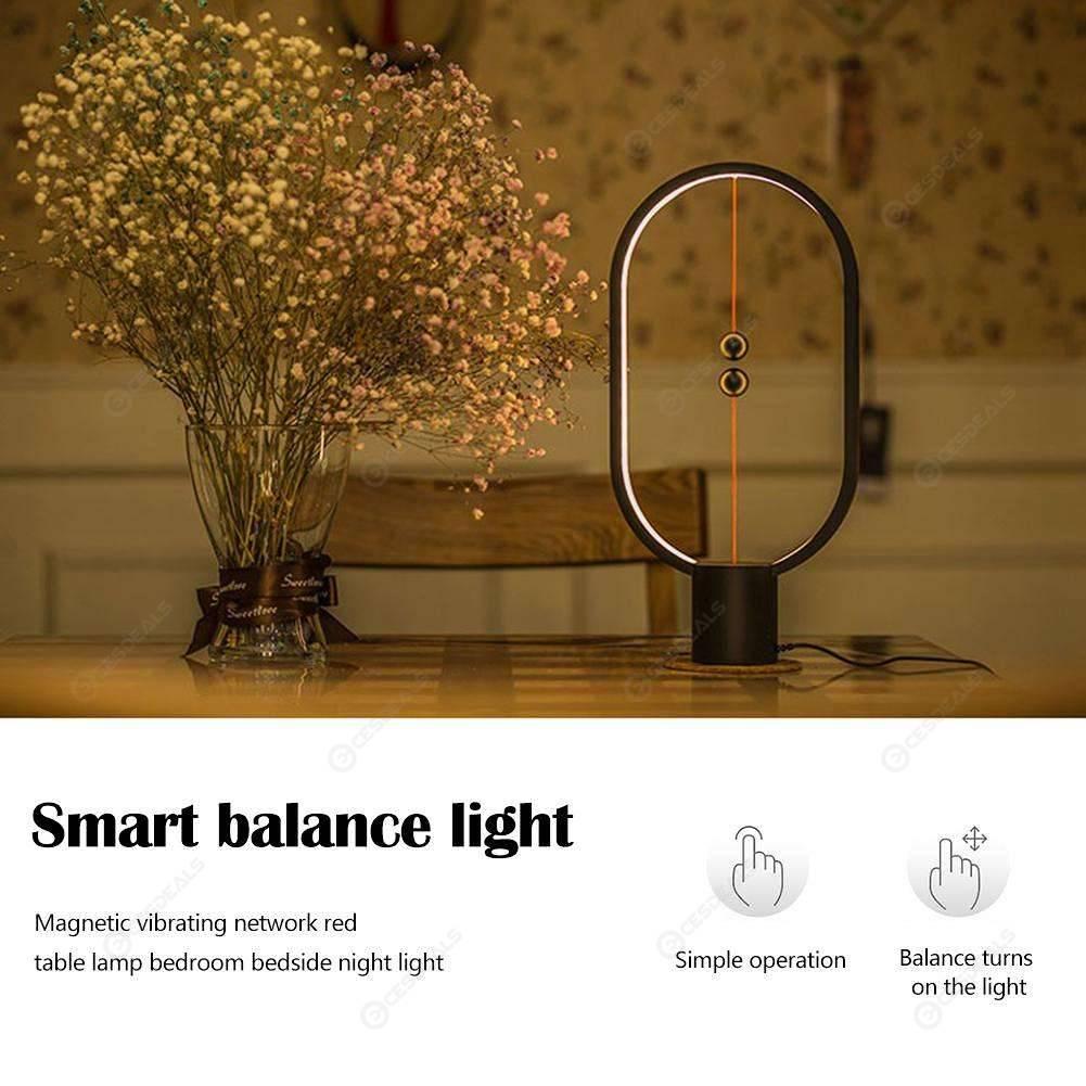 Heng Balance Lamp Smart LED Night Light USB Powered Home Decor Light (Black