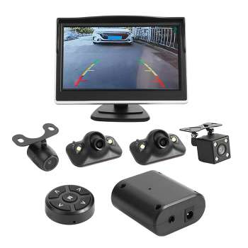 360 Degree Bird View System 4 Camera Car DVR Recording Cam with 5in Monitor