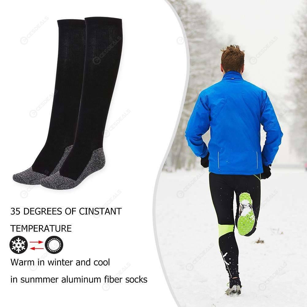 35c6dfc6907d9 Winter 35 Aluminized Keep Feet Extended Long Sock Heat Fibers Below Socks