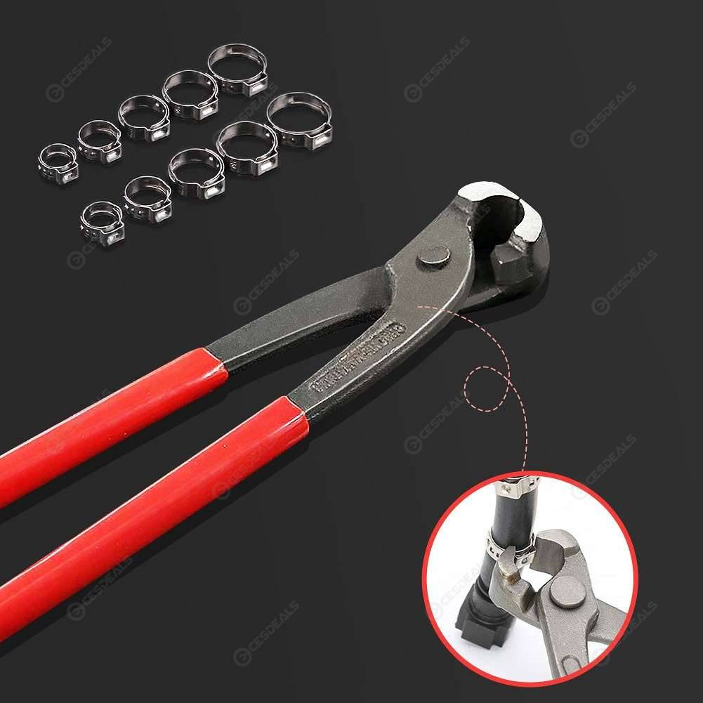PEX Cinch Crimping Tool with 10pcs 15.3-18.5mm Stainless Steel Hose Clamps