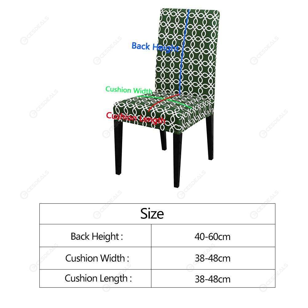 Awe Inspiring Chair Cover Removable Elastic Digital Print Banquet Seat Slipcover 6Pcs Creativecarmelina Interior Chair Design Creativecarmelinacom