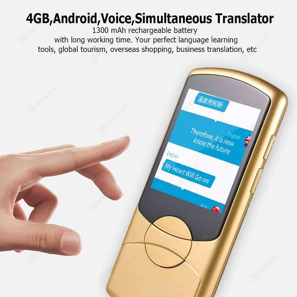 Multilingual Simultaneous Translator 4GB Android Voice Translation (Yellow)