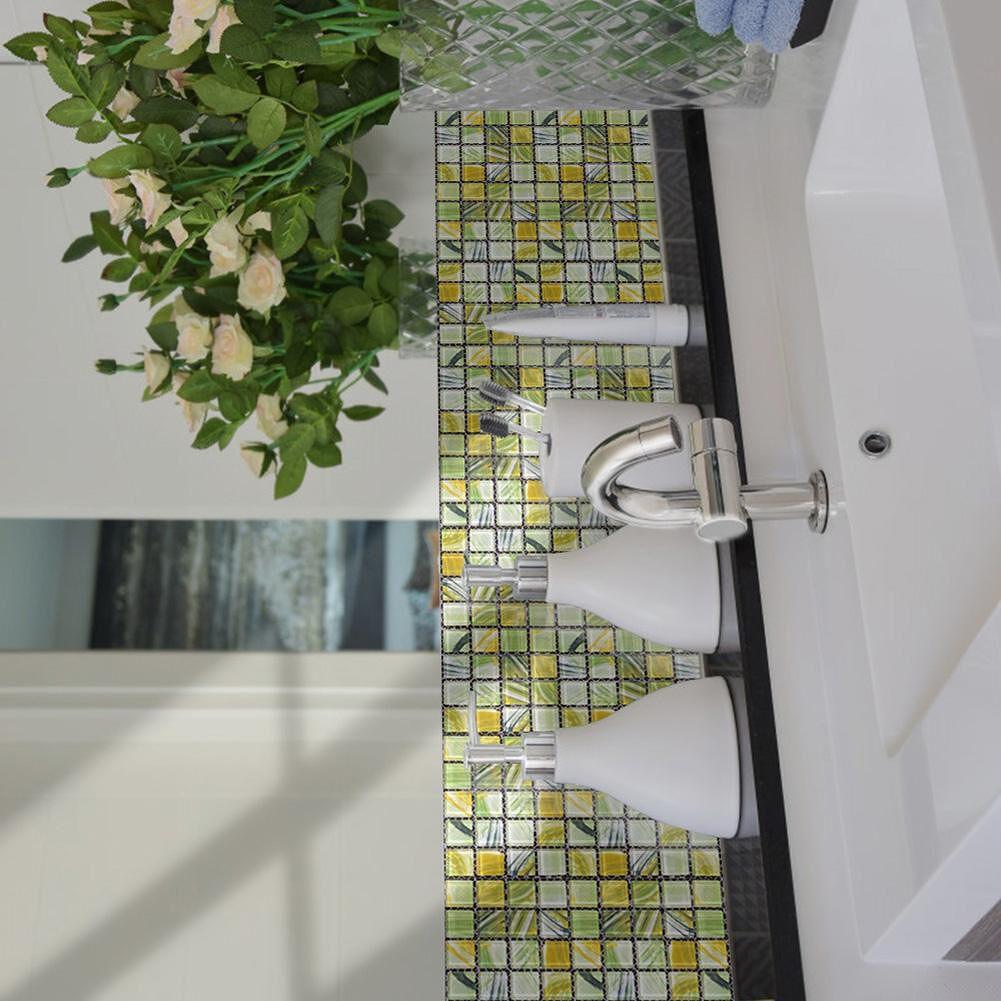 20pcs DIY Waterproof Self Adhesive 3D Wall Stickers Mosaic Tile Decal (7)