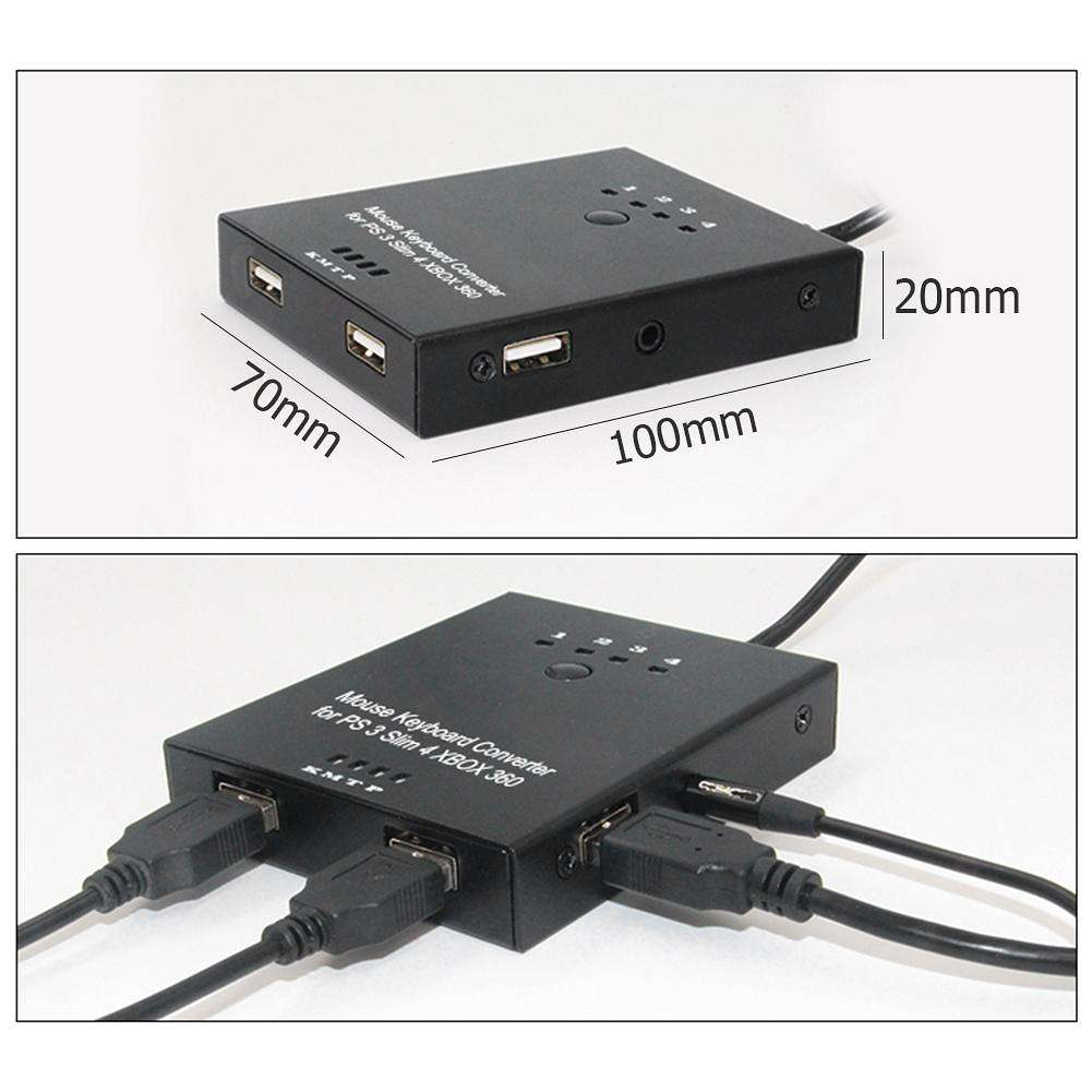 Mouse and Keyboard Converter Adapter for PS4/PS3/XBO XONE/XBOX 360 Switch
