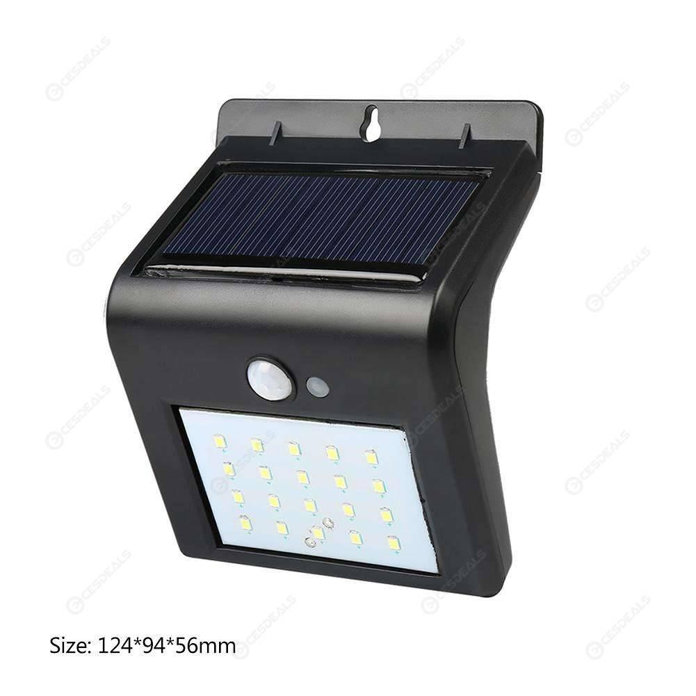 20 LED Solar Light Motion Sensor Waterproof Garden Yard Wall Washer Lamp