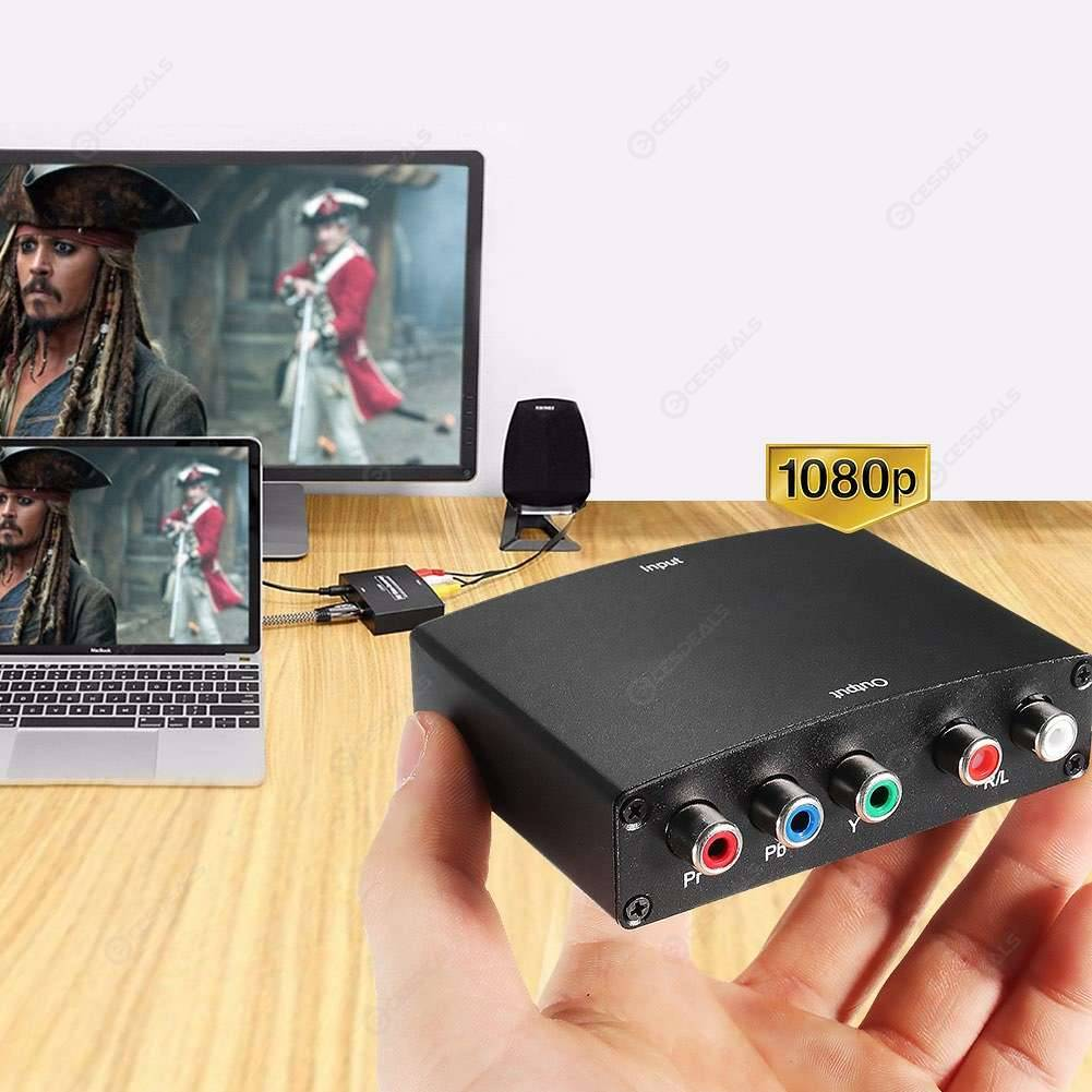 R//L Audio Adapter Converter EU//US US YPBPR to HDMI 1080P to RGB Component Video