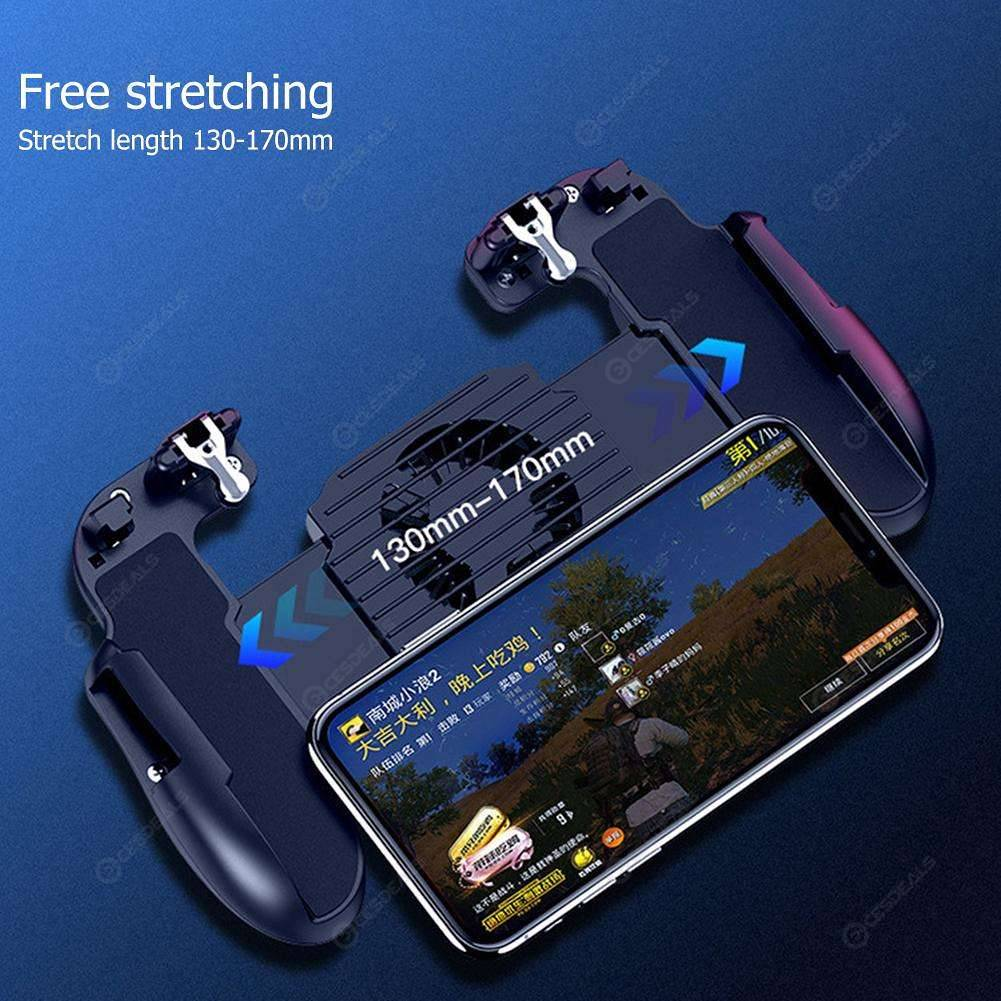 H5 Cooler Cooling Fan Gamepad Phone Controller Hand Grip for PUBG Mobile