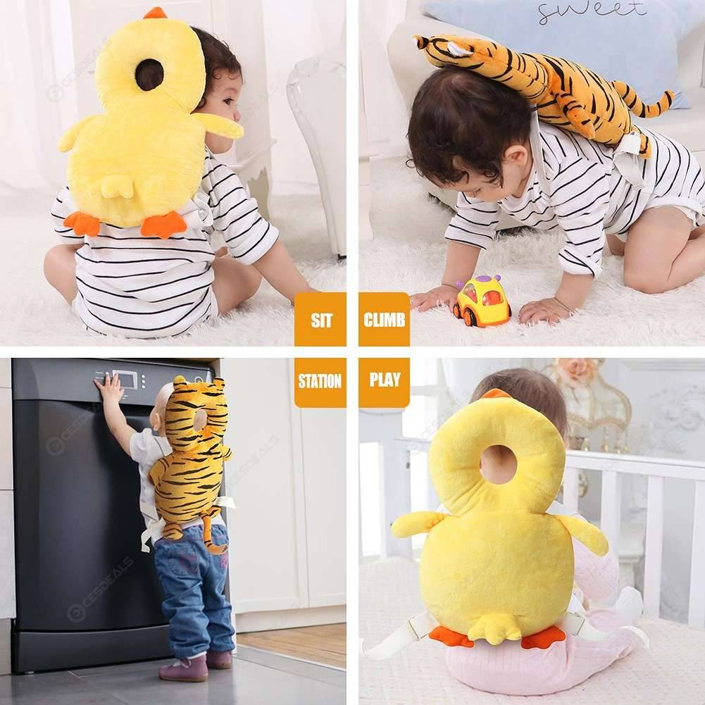 Safety Baby Head Protection Pillow Toddlers Headrest Pad Neck Protector Backpack