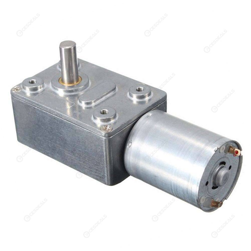 DC 12V Gear Speed Reduction Motor High Torque Turbine Geared Motor (2rpm)