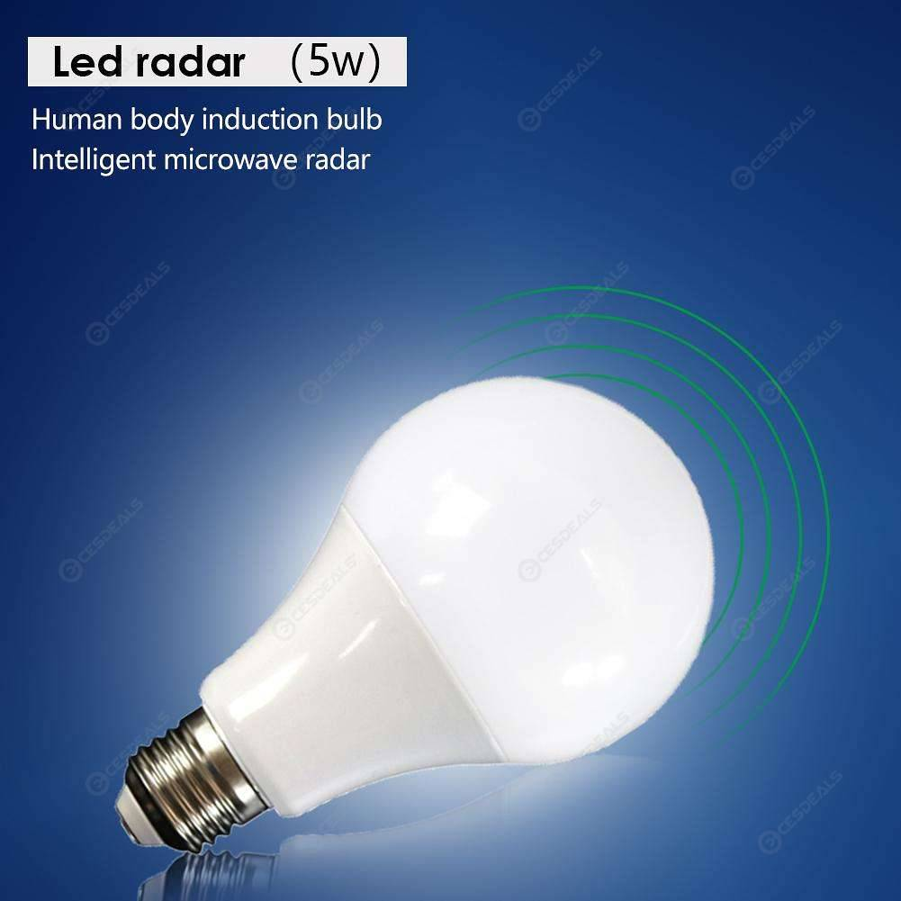 E27 Motion Radar Sensor Smart Lamp Bulb Porch Bedroom Yard LED Light (5W)