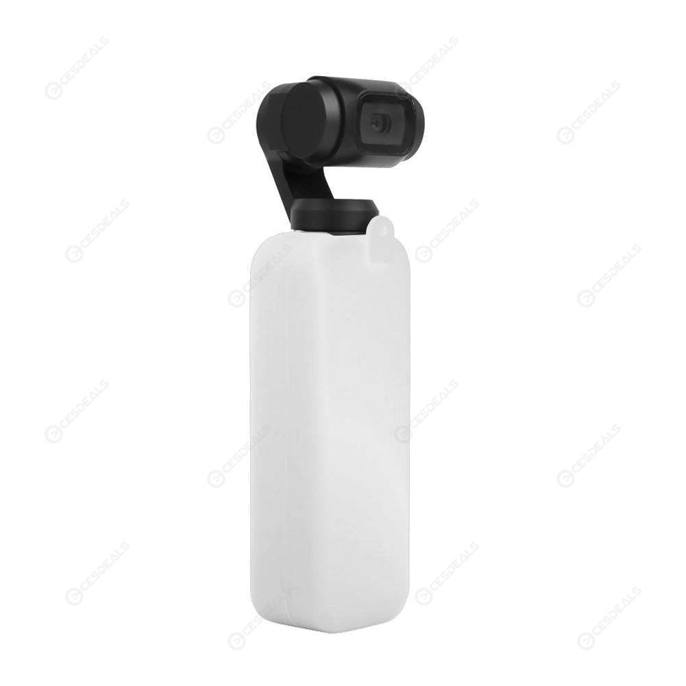 Silicone Cover Case with Lanyard Rope for DJI OSMO Pocket Gimbal (White)
