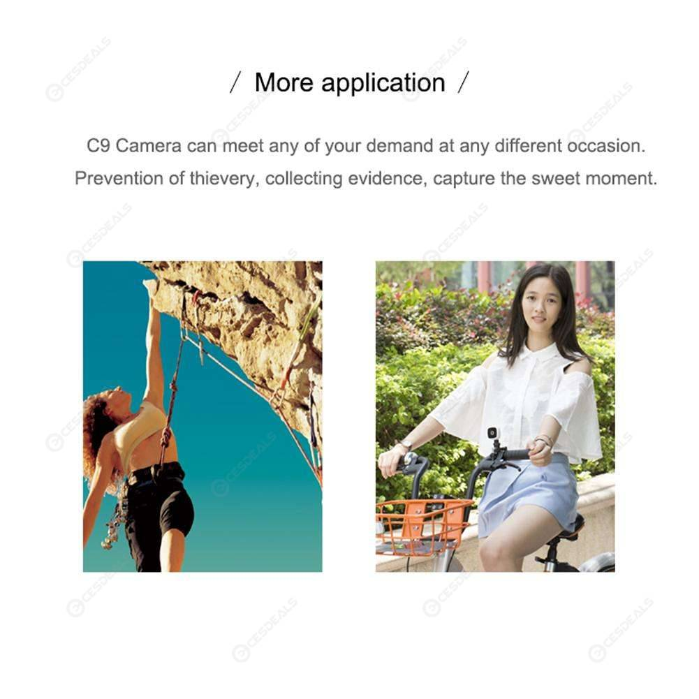 C9 Wearable Mini Wireless WiFi 720P Sport Camera Motion Detection Camcorder