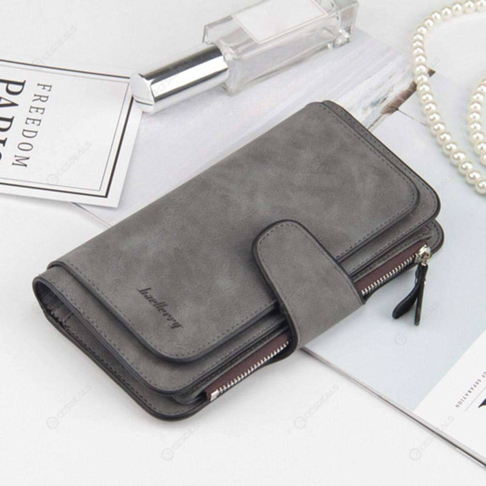 Womens Walllet Zipper Abstract Lines PU Leather Long Wallet for Banknote Credit Card