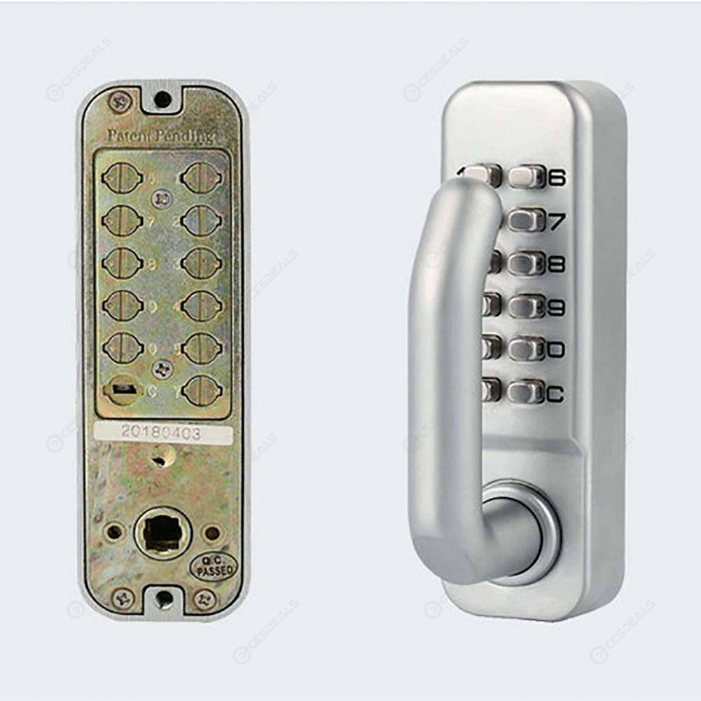 Mechanical Digital Push Button Door Lock Keyless Combination Lock (Silver)