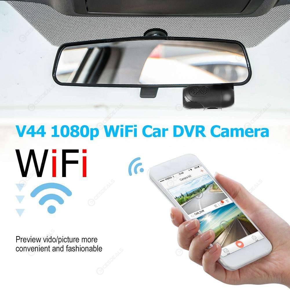 V44 1080p WiFi Car DVR Camera APP Control 165 Degree Lens Dash Cam Recorder