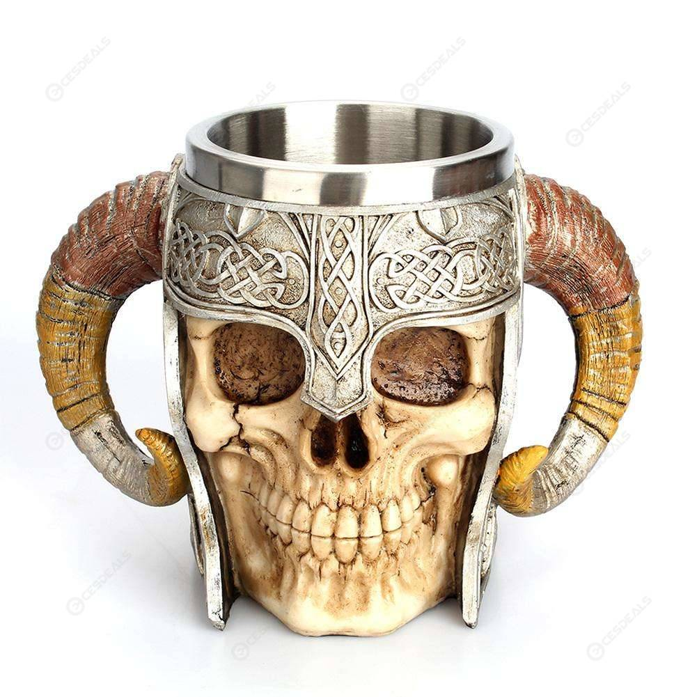Stainless Steel 3D Drinking Cup Resin Skull Mug Beer Tea Cups Bar Drinkware, 501 Original