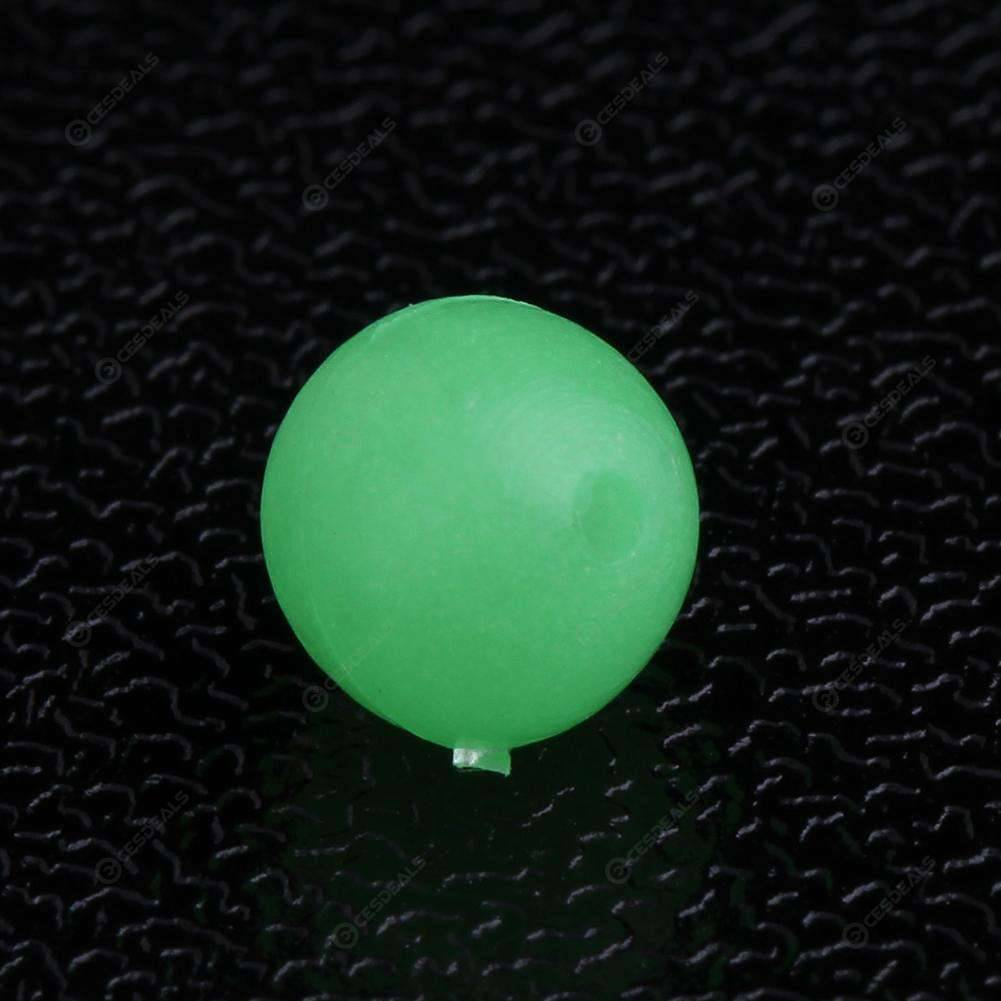 50pcs Luminous Beads Fishing Beans Round Float Stopper Light Balls (4x5mm)