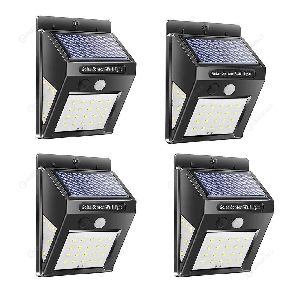 Étanche Extérieur Solaire Jardin Motion Murale Applique Sensor30led Lampe 4pcs dCxeorB